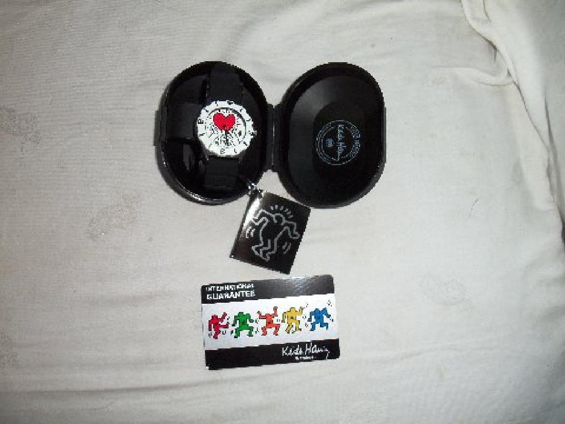 Vintage Keith Haring Pop Shop Watch Black - 3