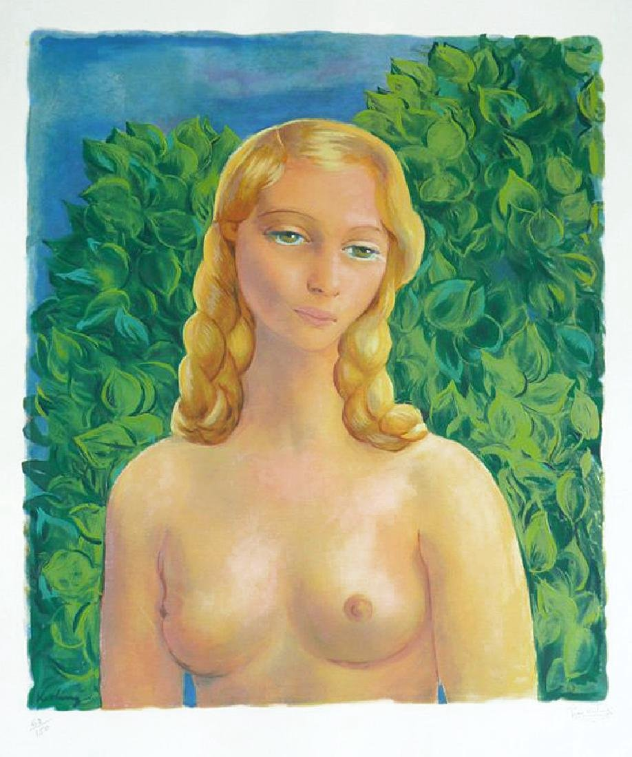 Moise Kisling (1891-1953) Lithograph La blonde nu
