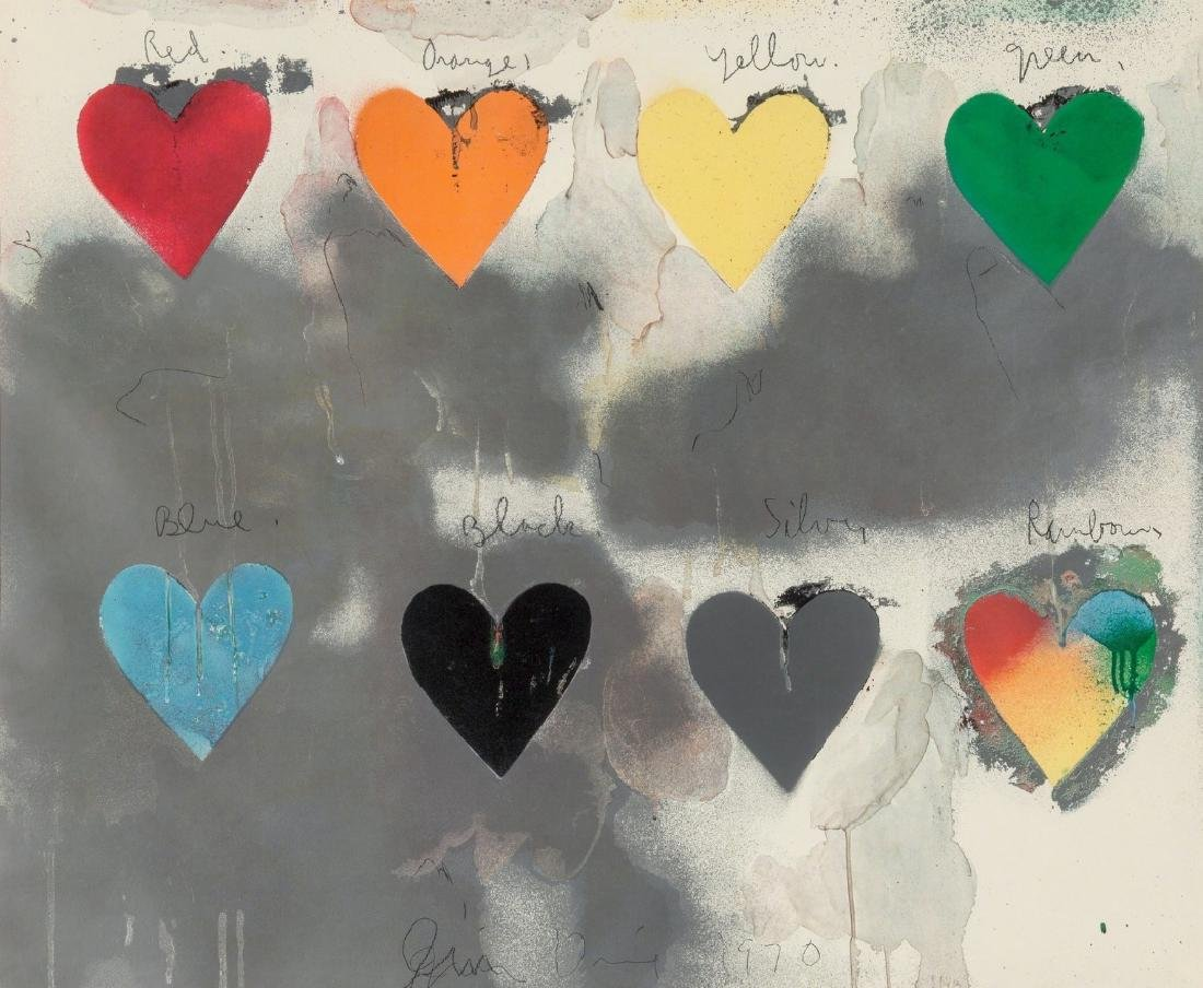 Jim Dine, After Lithograph Eight Hearts