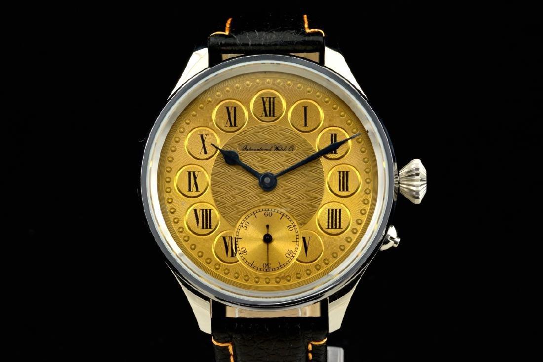 IWC Schaffhausen Stainless Steel Gold Dial Manual Watch