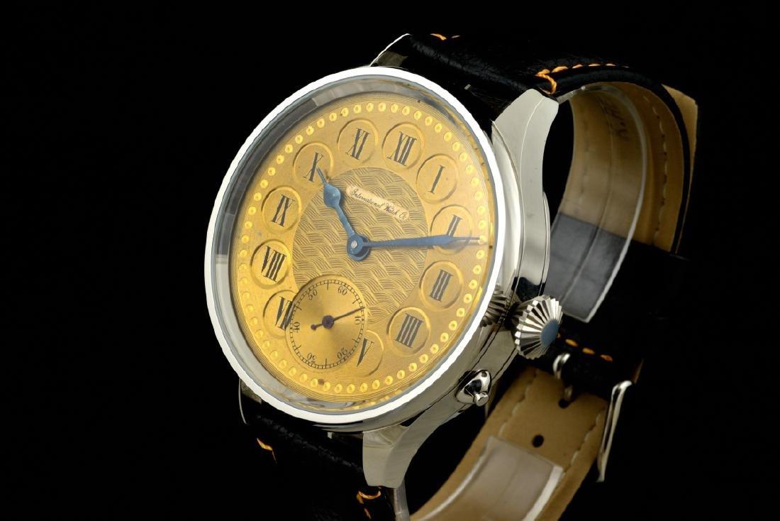 IWC Schaffhausen Stainless Steel Gold Dial Manual Watch - 2