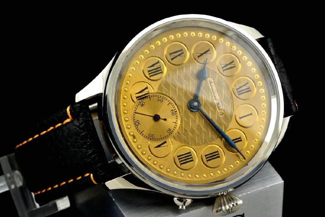 IWC Schaffhausen Stainless Steel Gold Dial Manual Watch - 5