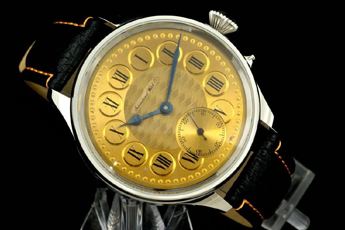 IWC Schaffhausen Stainless Steel Gold Dial Manual Watch - 6