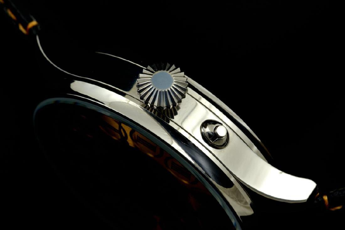IWC Schaffhausen Stainless Steel Gold Dial Manual Watch - 7