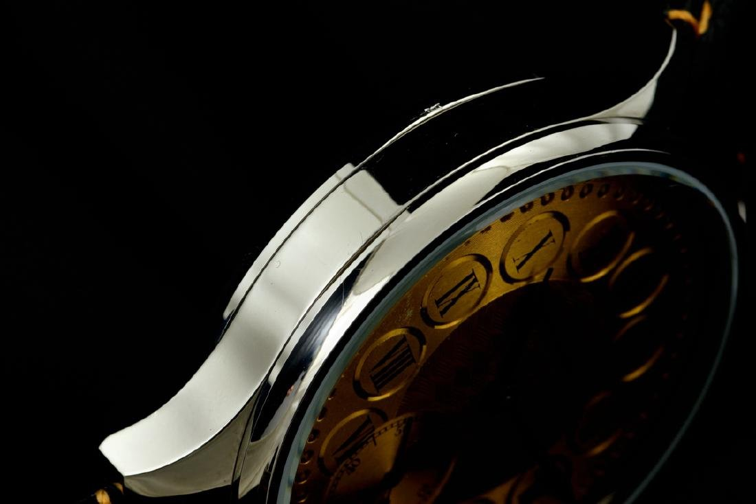IWC Schaffhausen Stainless Steel Gold Dial Manual Watch - 8