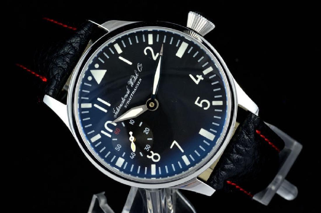 IWC Schaffhausen Stainless Steel Black Dial Watch