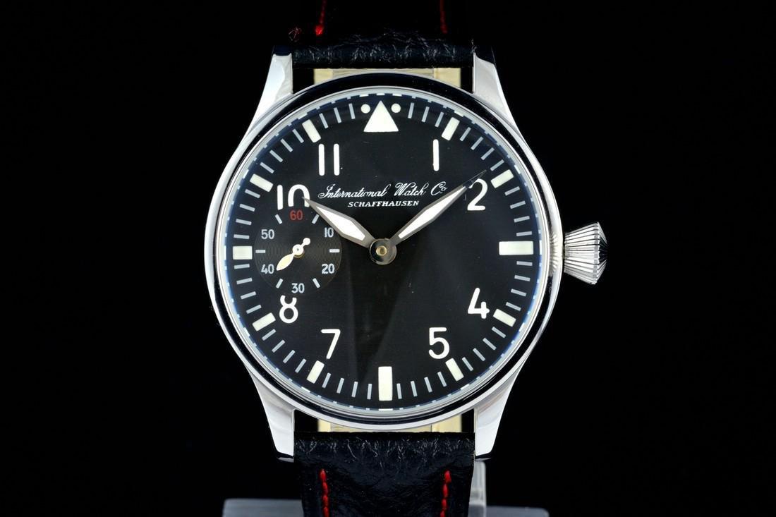 IWC Schaffhausen Stainless Steel Black Dial Watch - 2