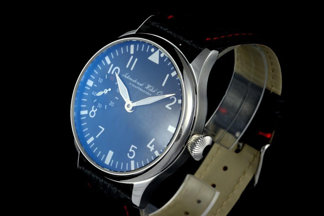 IWC Schaffhausen Stainless Steel Black Dial Watch - 3