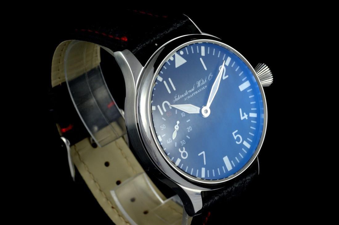 IWC Schaffhausen Stainless Steel Black Dial Watch - 4