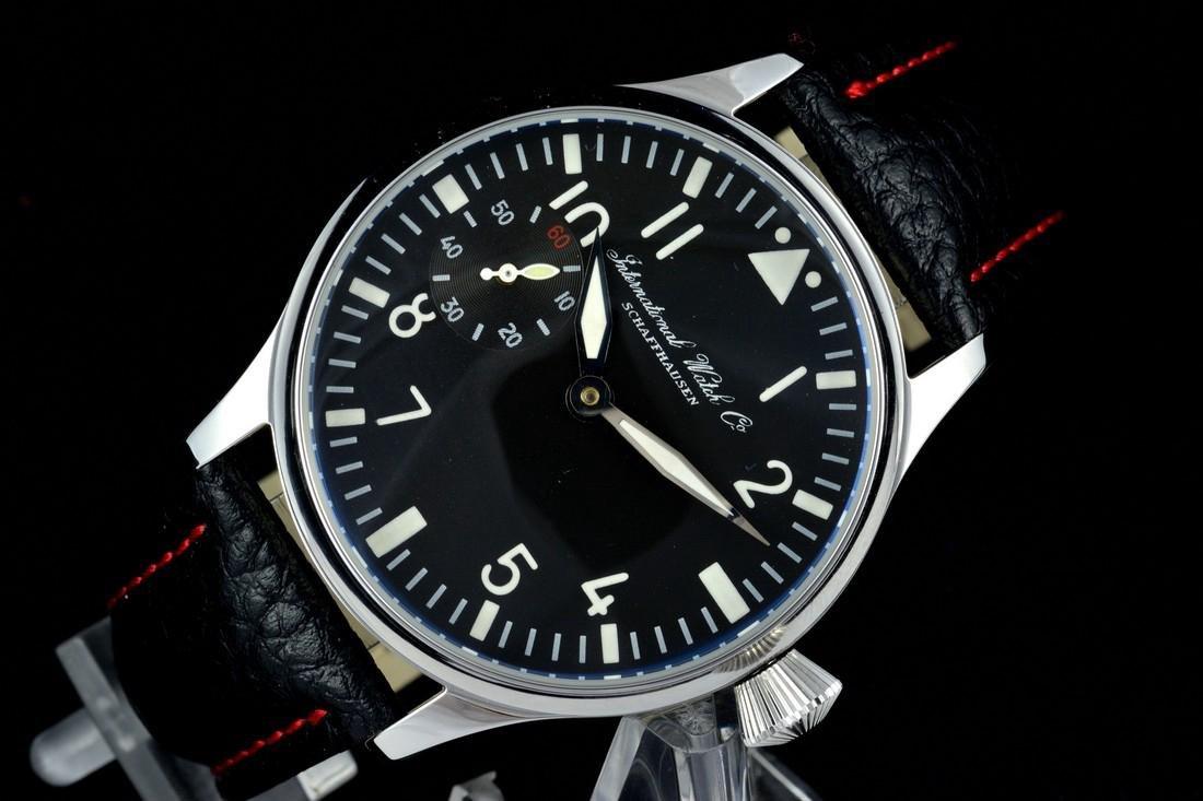 IWC Schaffhausen Stainless Steel Black Dial Watch - 5