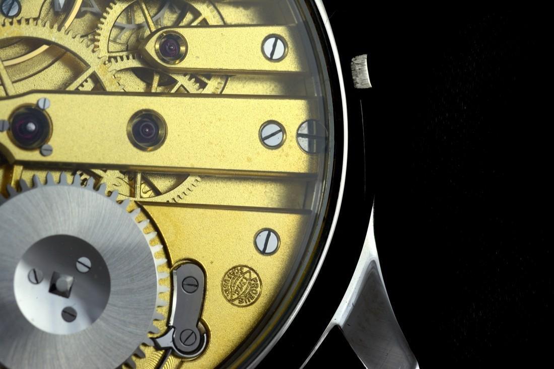 IWC Schaffhausen Stainless Steel Black Dial Watch - 9