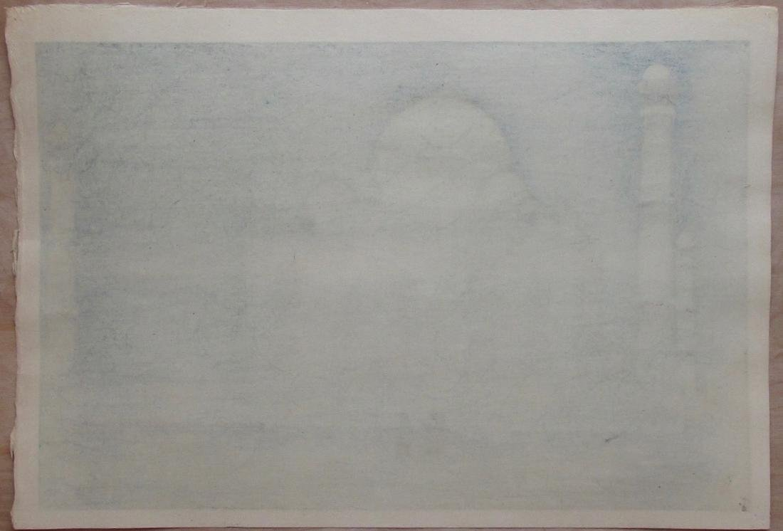 Hiroshi Yoshida Woodblock Moonlight of Taj Mahal No.4 - 2