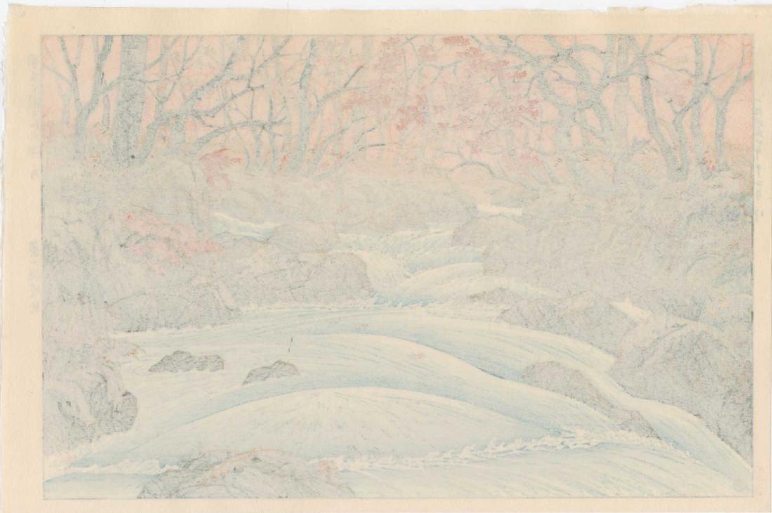 Takashi Ito Woodblock Oirase in Autumn - 2