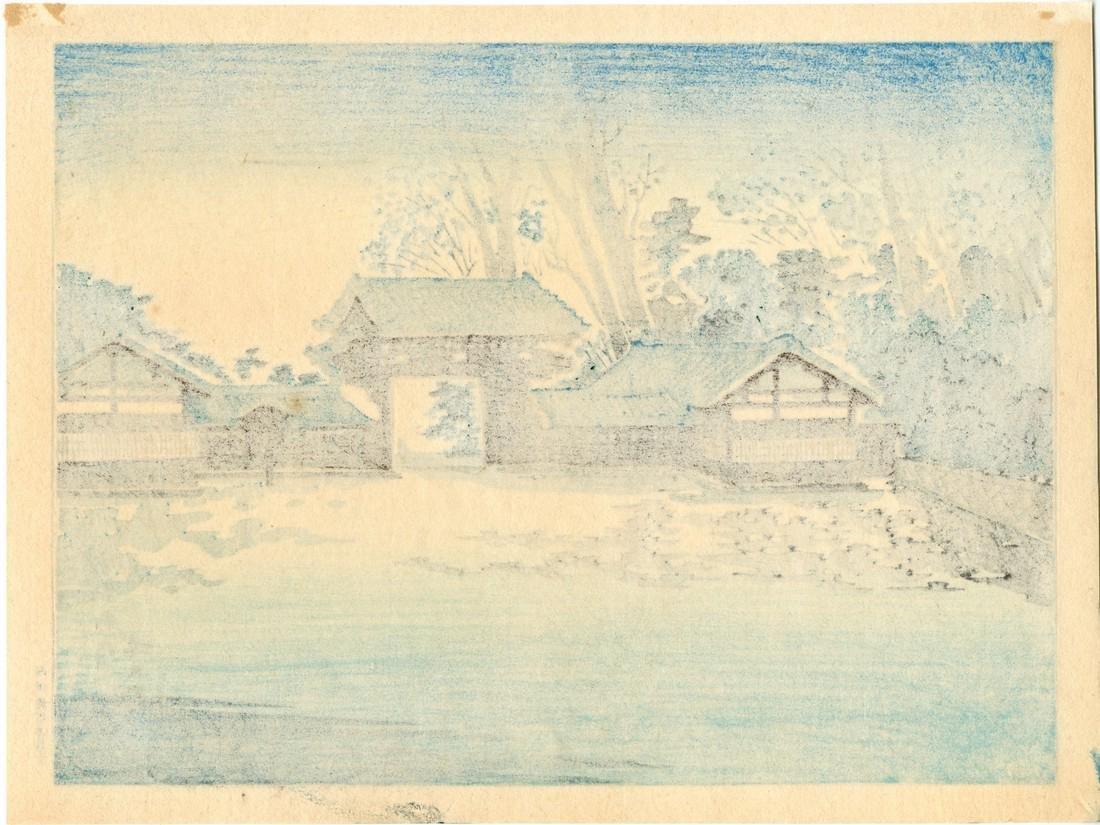 Tomikichiro Tokuriki Woodblock Kyoto Imperial Palace - 2
