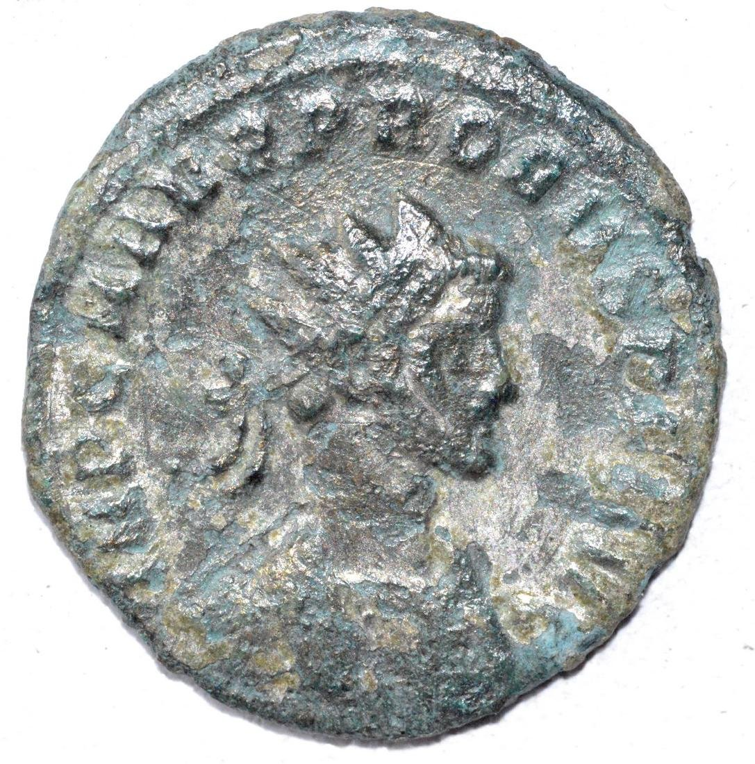 Ancient Roman Silvered Coin - Probus
