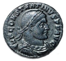 Ancient Roman Follis Coin - Constantinius I