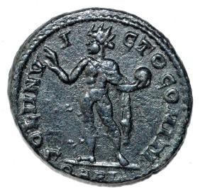 Ancient Roman Follis Coin - Constantinius I - 2