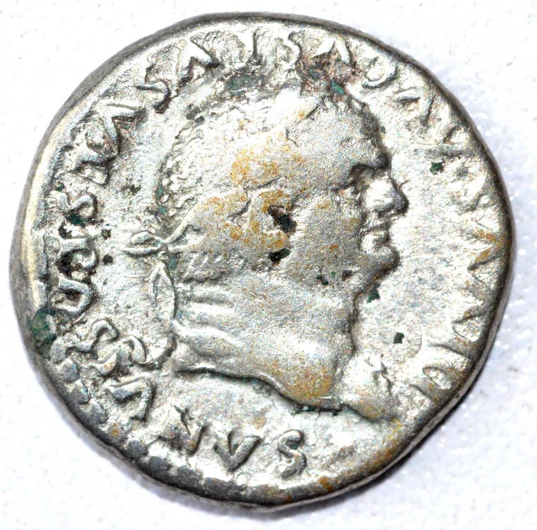 Rare Ancient Roman Denarius Coin - Vespasian