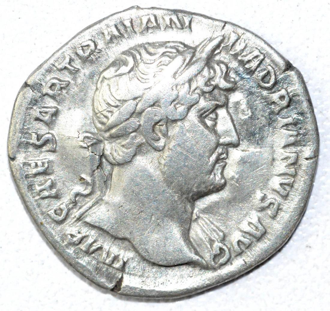 Ancient Roman Denarius Coin - Hadrian