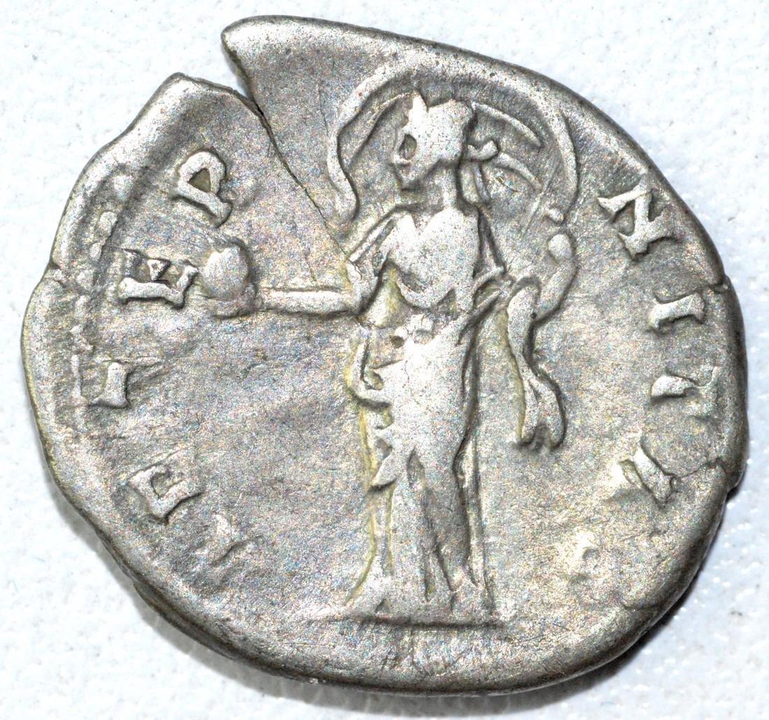 Ancient Roman Denarius Coin - Faustina - 2