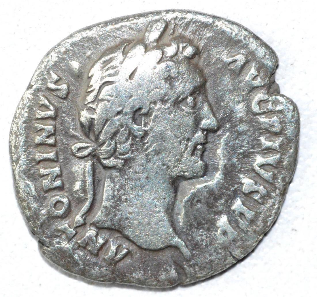 Ancient Roman Denarius Coin - Antoninus Pius