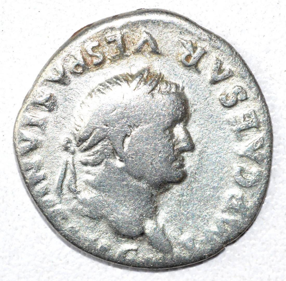 Ancient Roman Denarius Coin - Vespasian