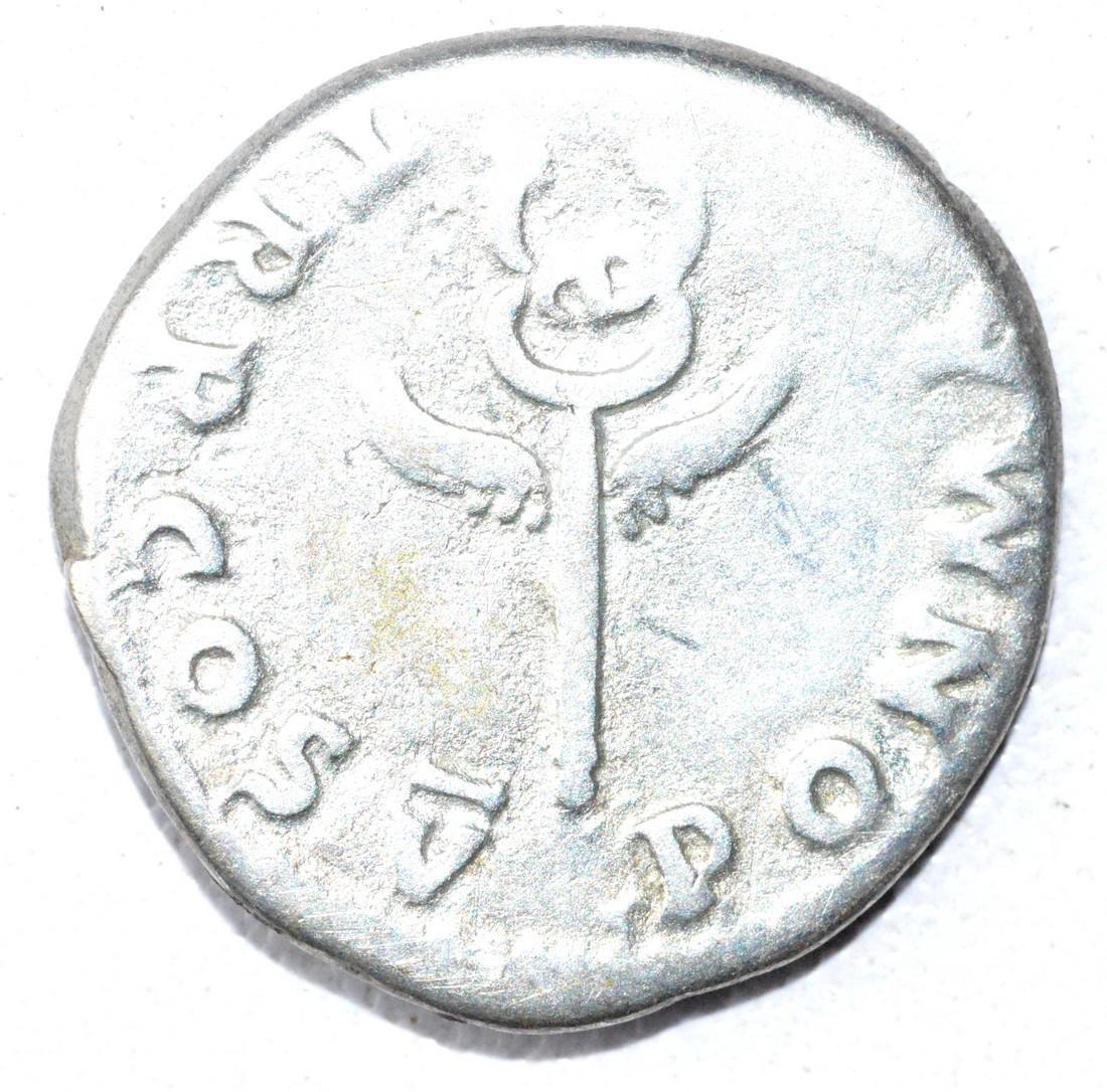 Ancient Roman Denarius Coin - Vespasian - 2
