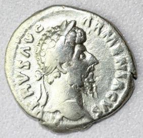Ancient Roman Denarius Coin - Lucius Verus