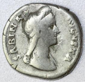 Ancient Roman Denarius Coin - Sabina