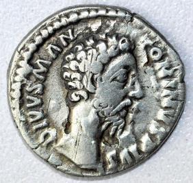 Ancient Roman Denarius Coin - Marcus Aurelius
