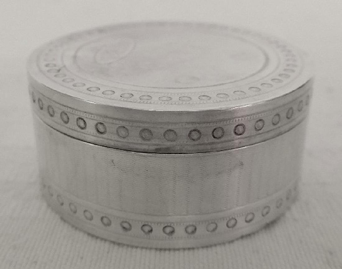 Antique French Napoleon III Sterling Silver Pill Box