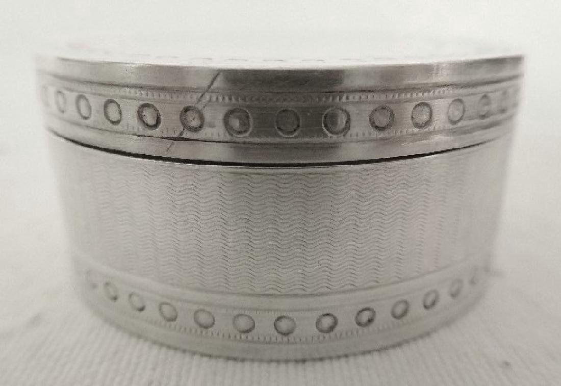 Antique French Napoleon III Sterling Silver Pill Box - 4