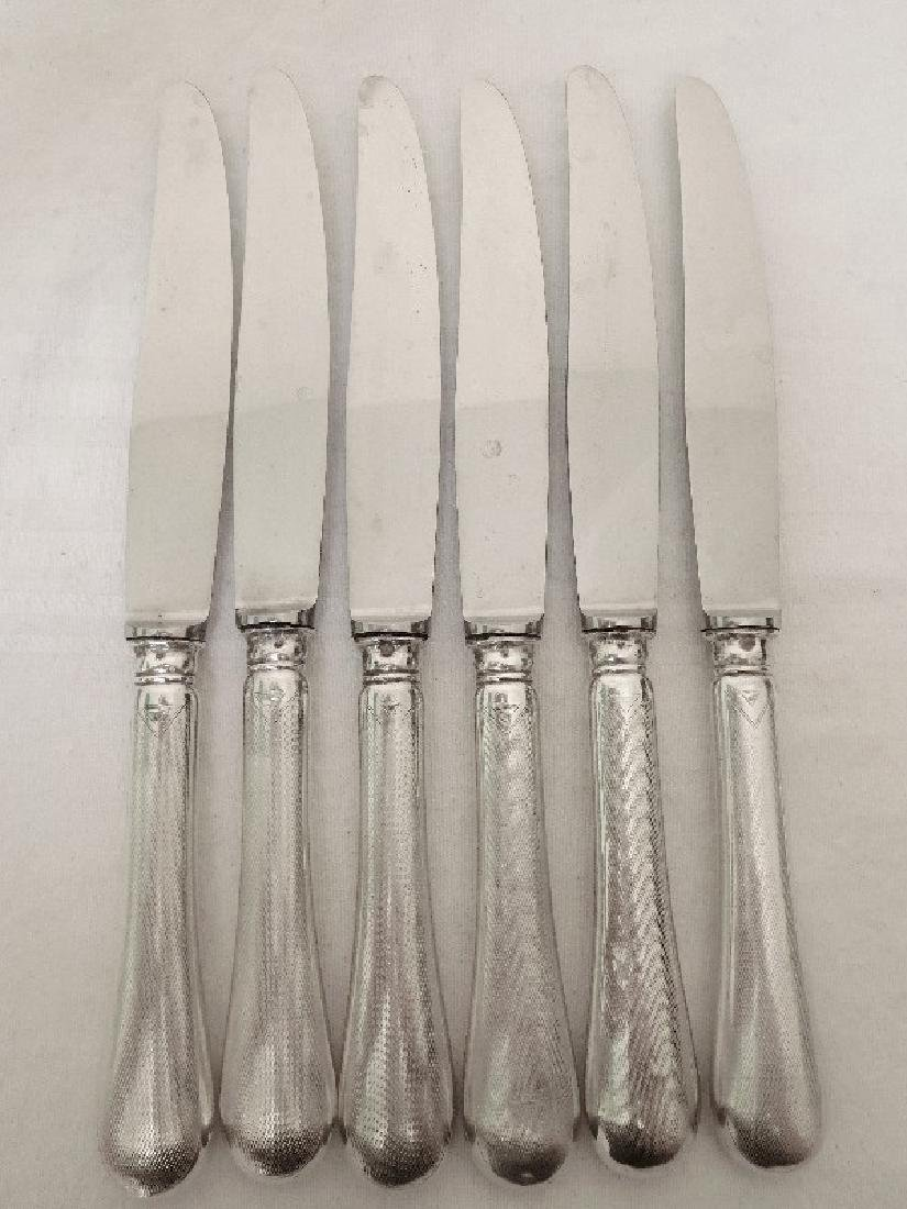 Antique French Henin & Cie Sterling Silver Knives Set