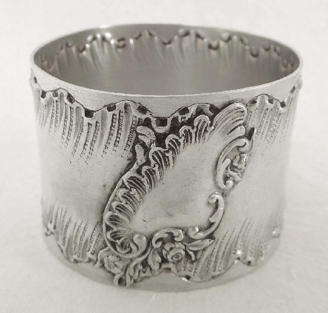 Antique Louis XV Rococo Style Silver Napkin Ring