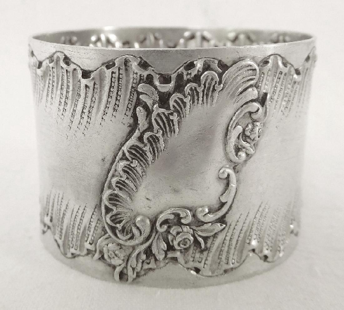 Antique Louis XV Rococo Style Silver Napkin Ring - 2