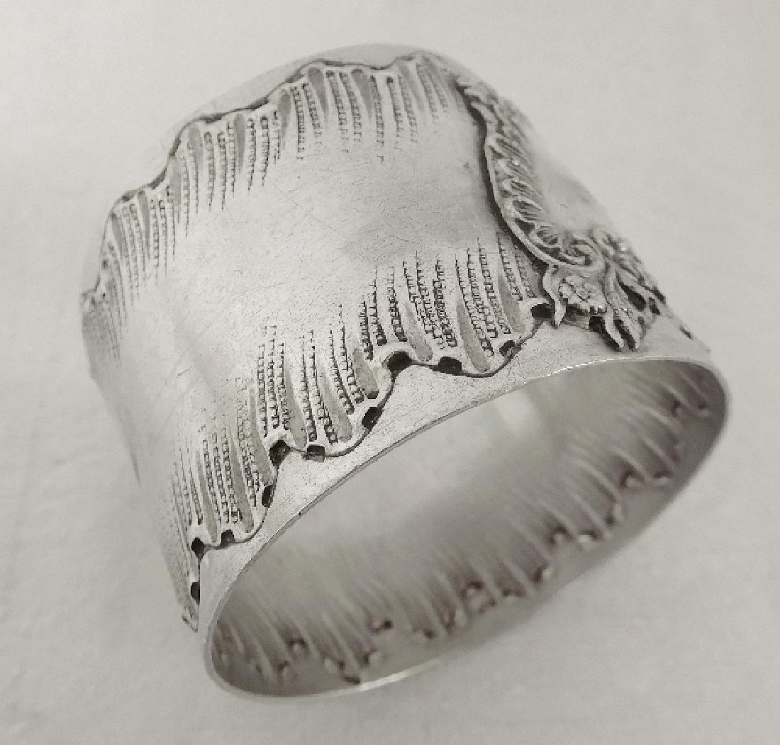 Antique Louis XV Rococo Style Silver Napkin Ring - 3
