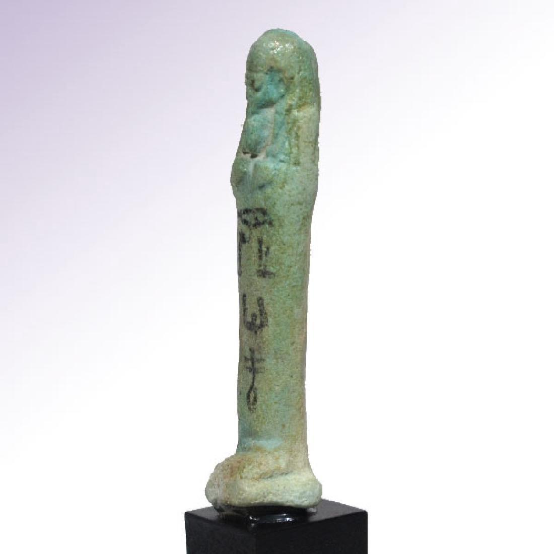 Egyptian Inscribed Faience Shabti of KA NEFER, c. - 5