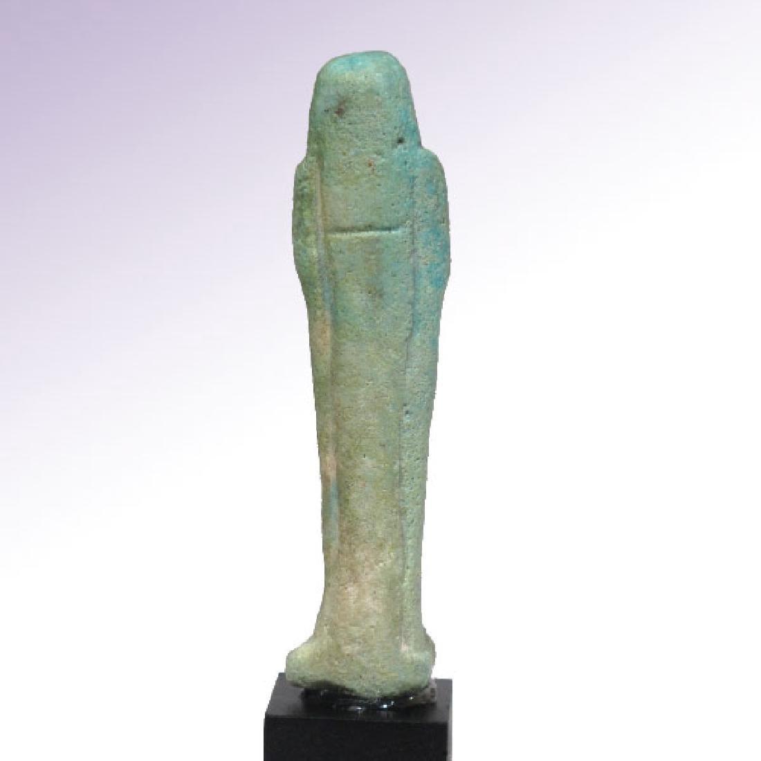 Egyptian Inscribed Faience Shabti of KA NEFER, c. - 7
