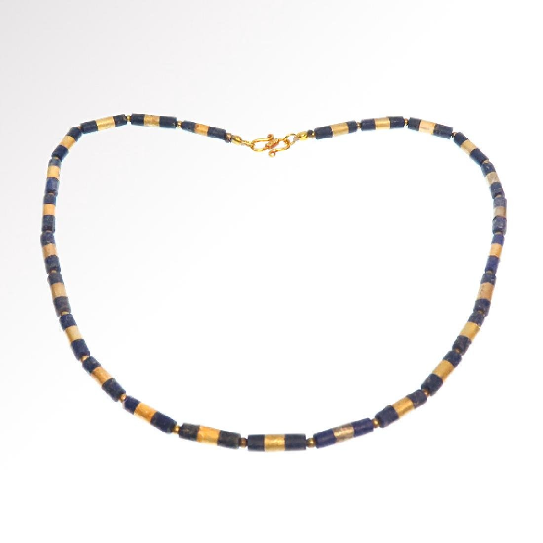 Egyptian Lapis and Gold Necklace, c. 300-200 B.C.