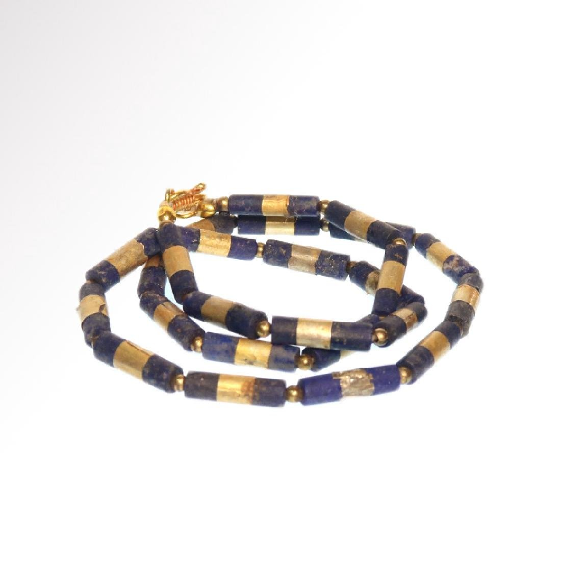 Egyptian Lapis and Gold Necklace, c. 300-200 B.C. - 2