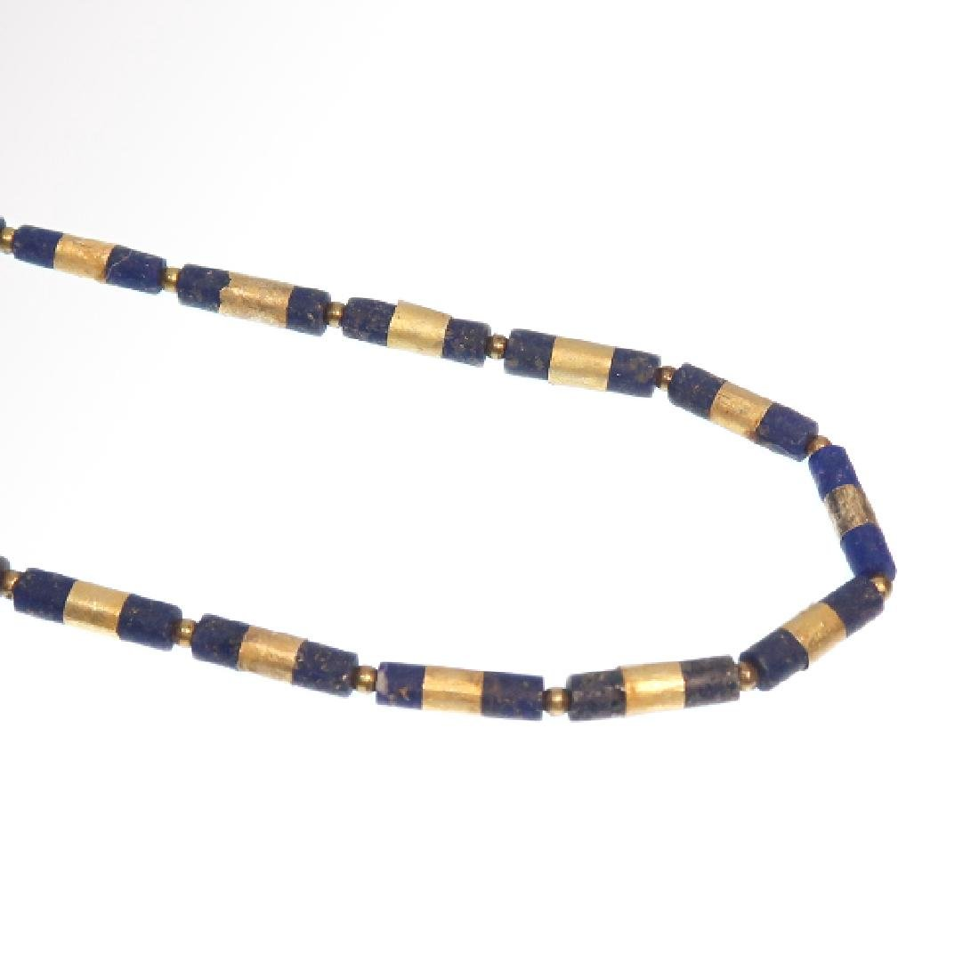 Egyptian Lapis and Gold Necklace, c. 300-200 B.C. - 3