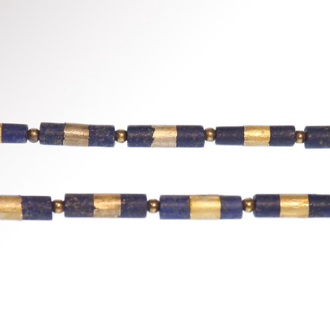 Egyptian Lapis and Gold Necklace, c. 300-200 B.C. - 4