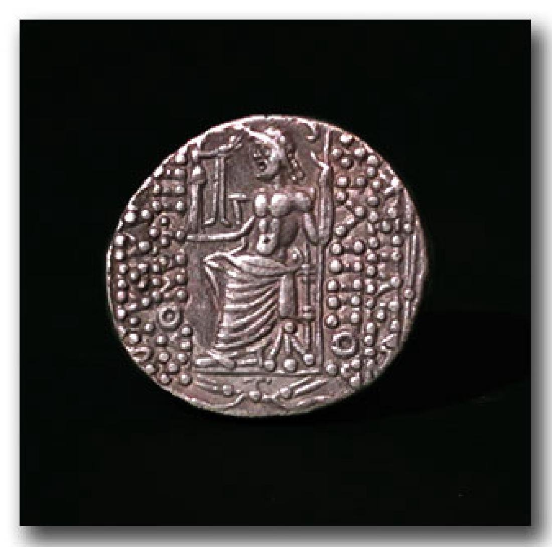 Greek Silver Tetradrachm, Philip Philadelphos , - 2