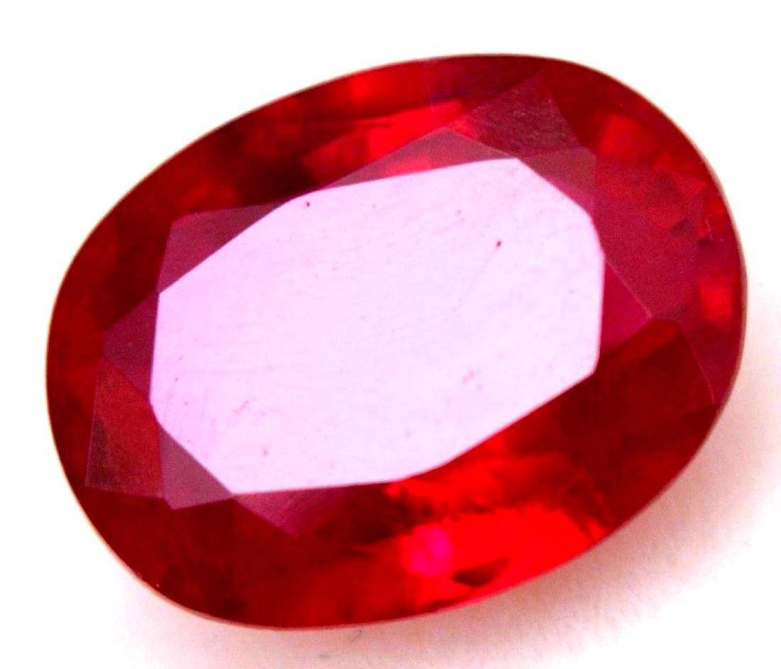 6.45 Carat Loose Natural Blood Red Mozambique Ruby AGSL