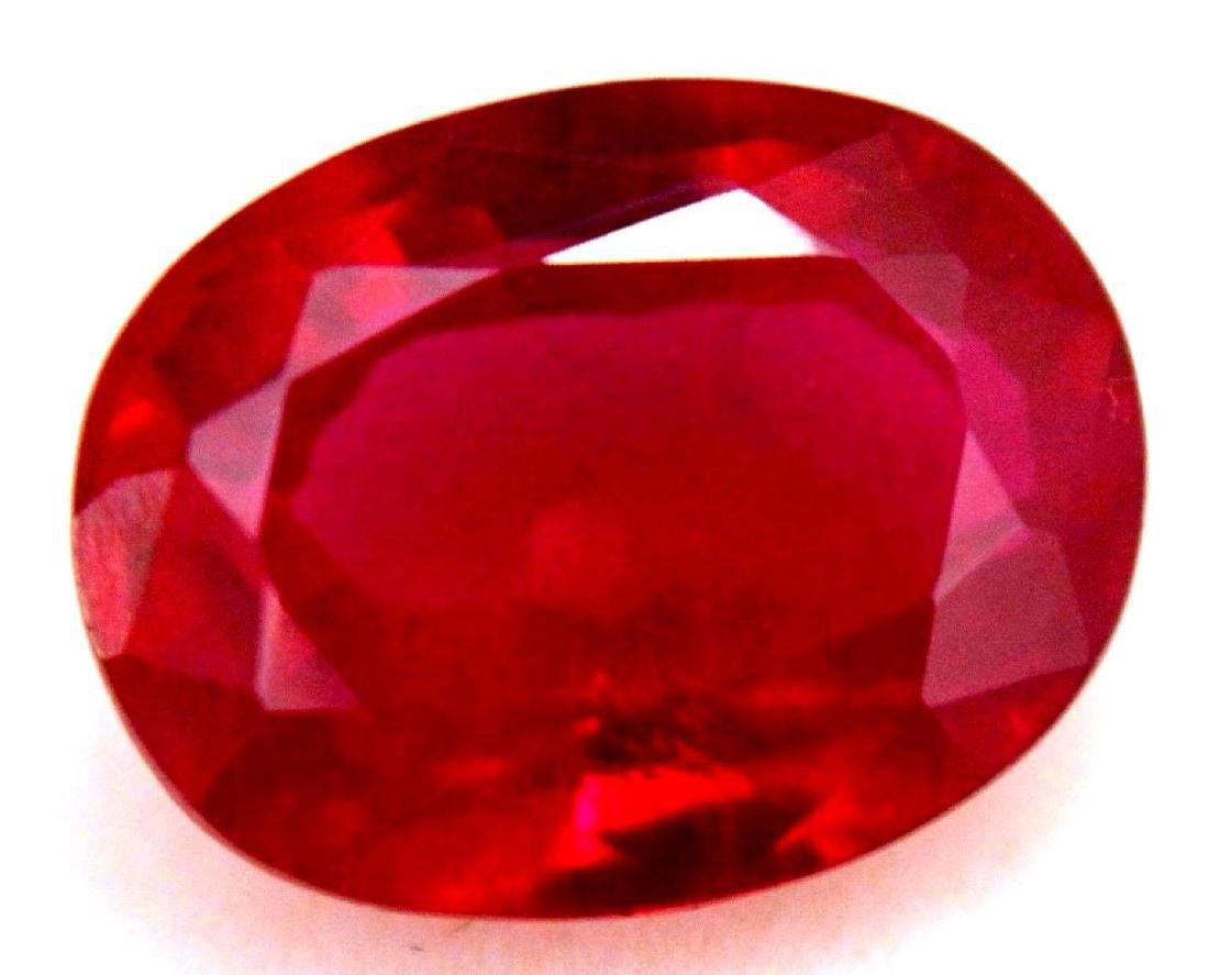 6.45 Carat Loose Natural Blood Red Mozambique Ruby AGSL - 4
