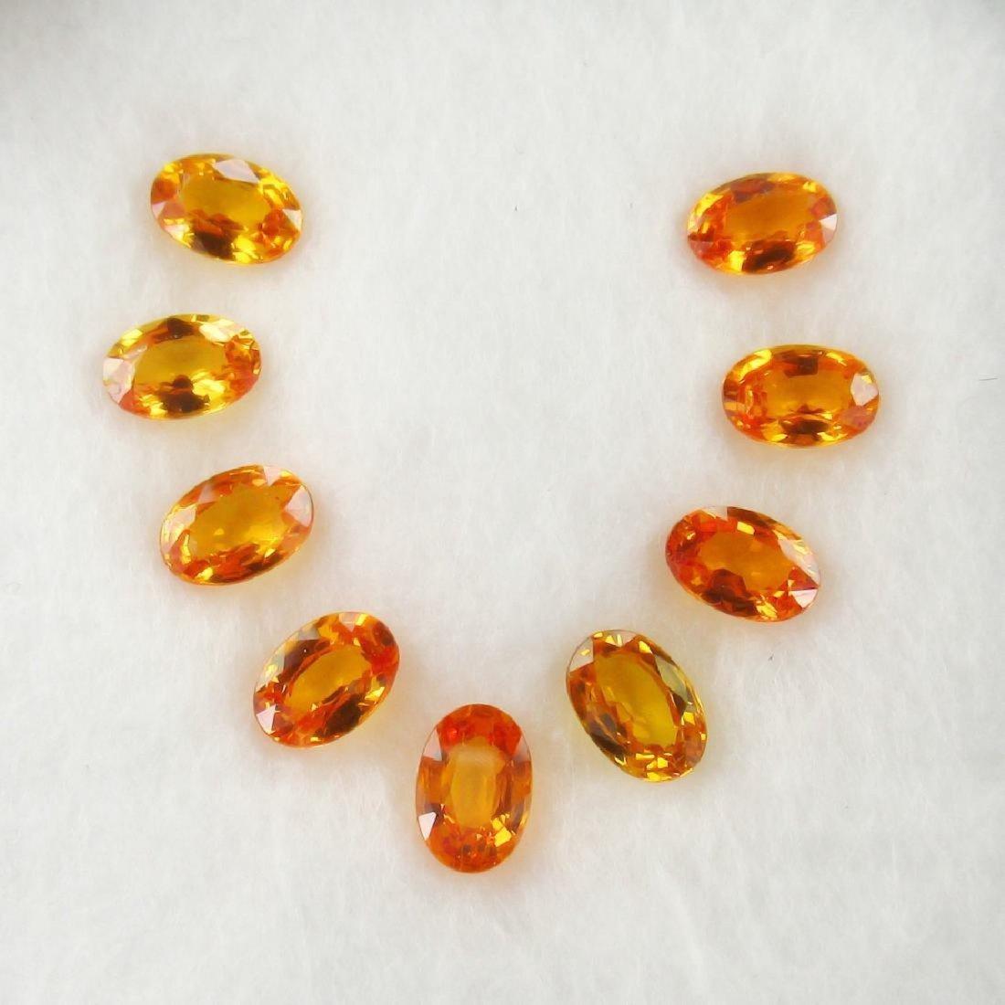 5.17 Carat Loose Orange Sapphire Necklace Set