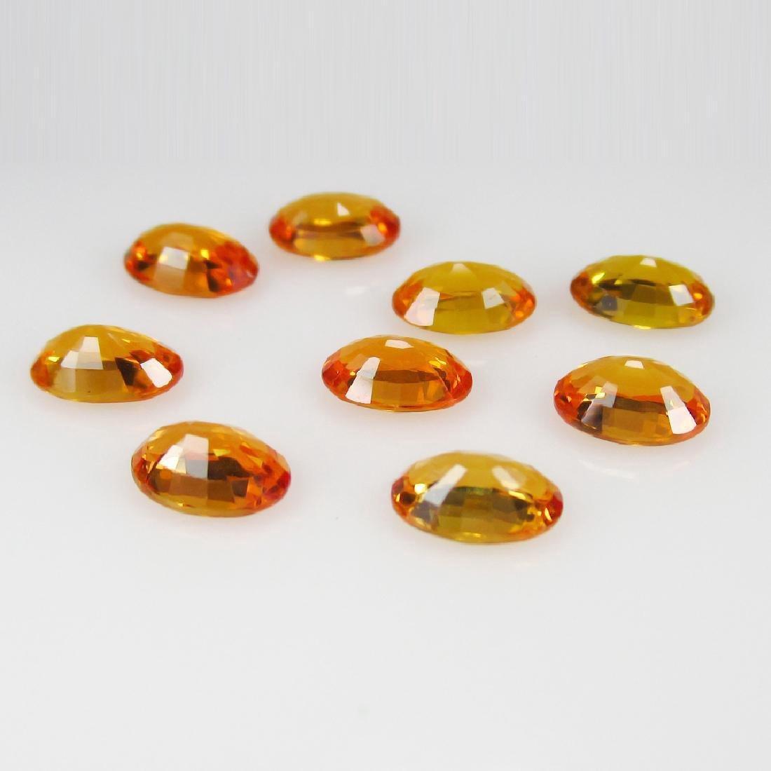 5.17 Carat Loose Orange Sapphire Necklace Set - 2