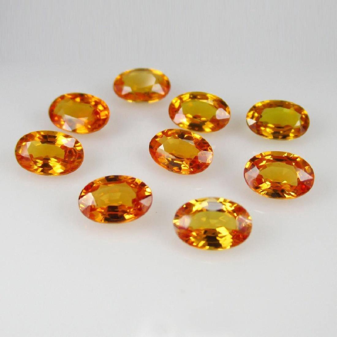 5.17 Carat Loose Orange Sapphire Necklace Set - 3