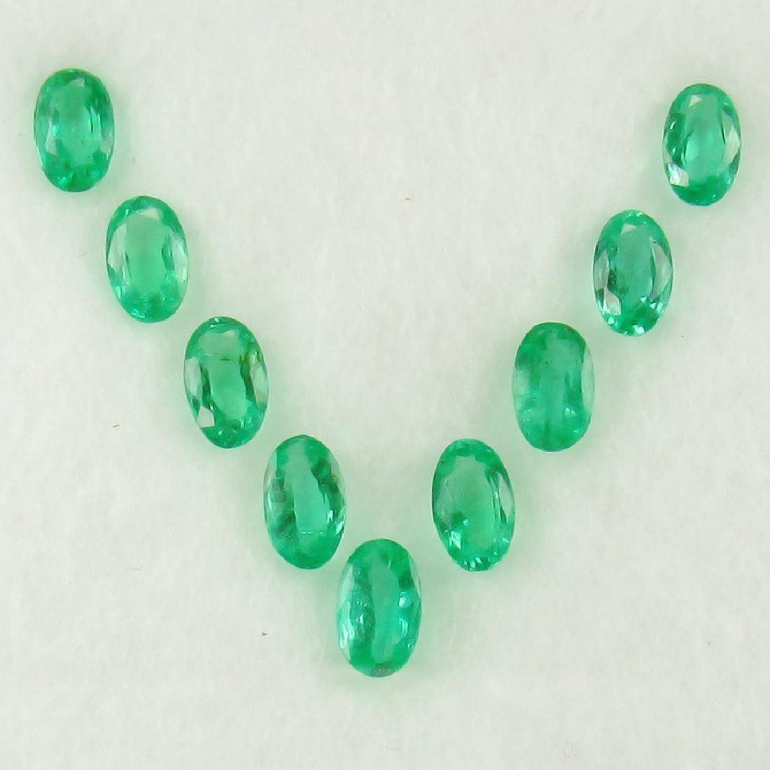 1.92 Carat Loose Zambian Emerald Necklace Set