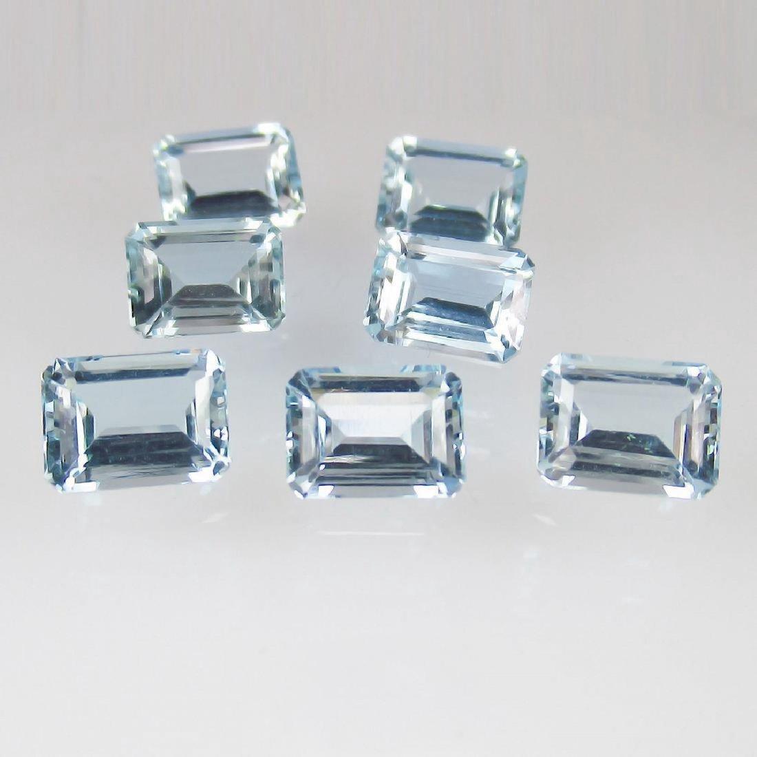 10.85 Carat Loose Aquamarine Necklace Set - 3